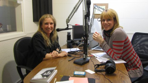 Stacey Gualandi and Roz Savage at 1480KPHX during TWE radio interview