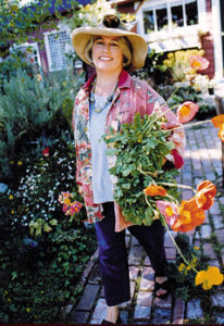 Elizabeth Murray in the garden
