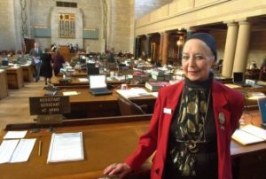 Sally Gordon, 101, at Nebraska State Legislature