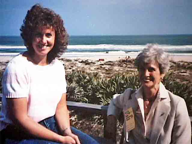 Christa McAuliffe and Mother Grace Corrigan