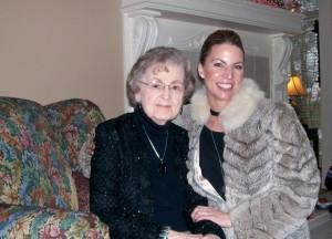 Shauna Thomas Flea Market Fashionista with Grandmother