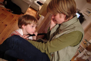 Ann Murray Paige and son March 2004