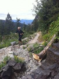 Brent Thomson running Glacier National Park