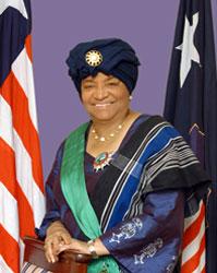 Ellen Johnson-Sirleaf president