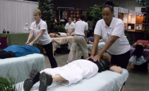 Massages at Women's Expo