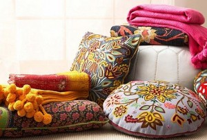 Kantha Throw Pillows