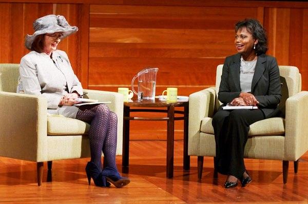 Anita Hill and Patt Morrison