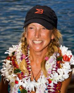 Roz Savage Celebrating at the dock in Honolulu/Photo: Phil Uhl-9/1/08: Guest on TWE Radio
