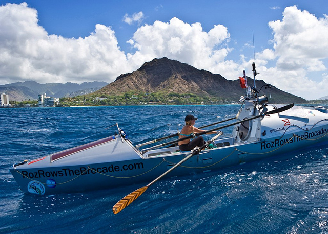 Roz Savage arriving Honolulu