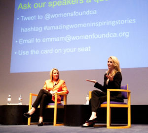 Dr. Kathy Magliato and Jennifer Newsom at Women's Foundation Talk in LA