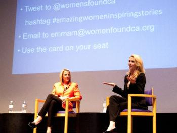 Dr. Kathy Magliato and Jennifer Newsom at Women's Foundation Talk in LA