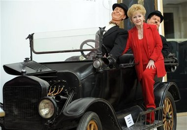 Debbie Reynolds 1918 Laurel & Hardy Model T from auction