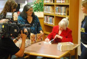 Linda signing book