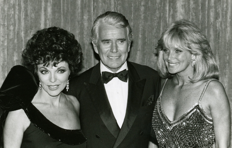 Linda with Joan Collins and John Forsythe