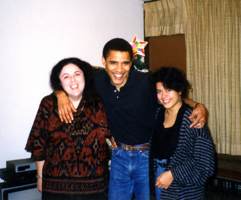 Maya, Mom, and Barack
