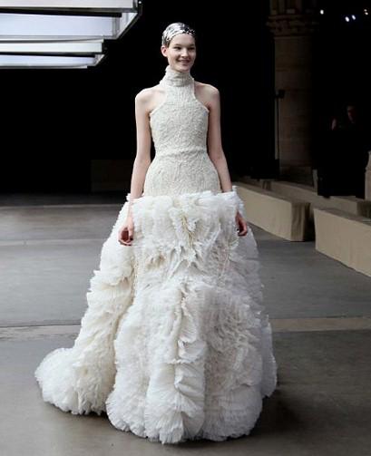 Alexander McQueen wedding dress--Telegraph