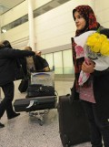 Afghan girl arrives in Canada to attend school
