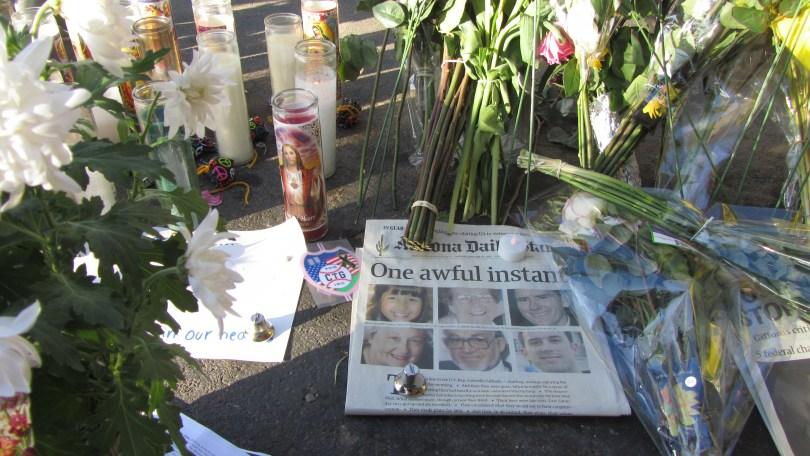 Remembering Safeway victims Tucson 1/10/12--Photo Pamela Burke