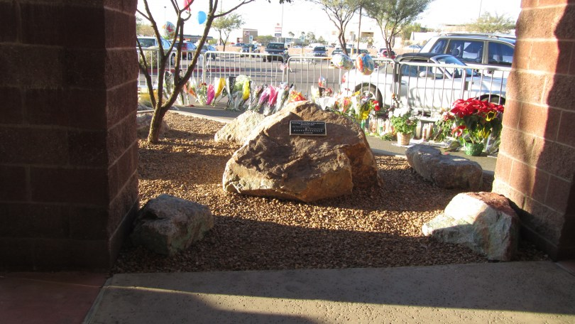 Victims Memorial at Safeway in Tucson: Photo: Pamela Burke