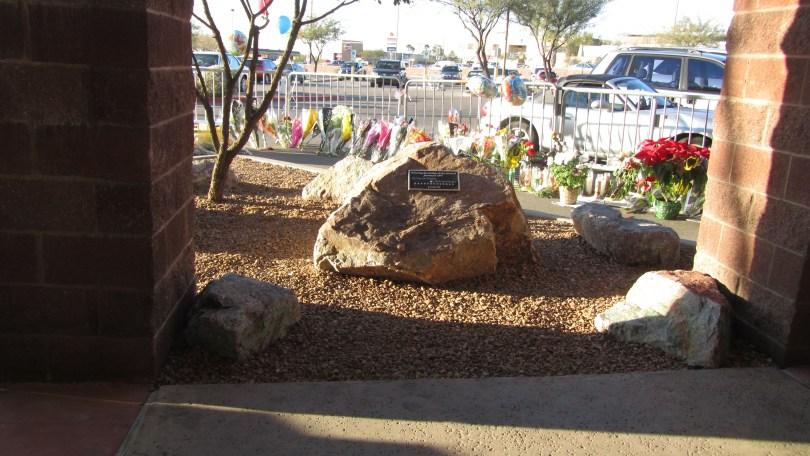 Victims Memorial at Safeway in Tucson: Photo: Pamela Burke