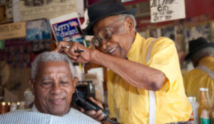 "Gail Dolgin's film ""Barber of Birmingham"""