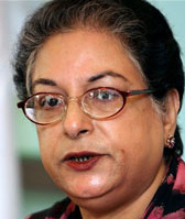 Hina Jilani, runs women's shelter in Lahore, Pakistan