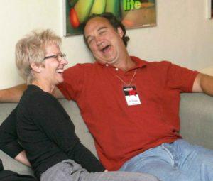Tracy Newman and Jim Belushi