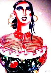 Gaultier sketch photo by Wendy Verlaine