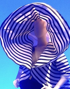 Striped Hat-Jacket by Gaultier