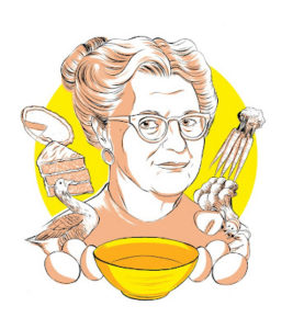 Elizabeth Gilbert illustration of Margaret Potter for At Home on the Range