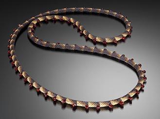 Garnet Necklace by Claire Kahn