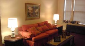 Treger Strasberg's Humble Design fixes living room for homeless in Detroit