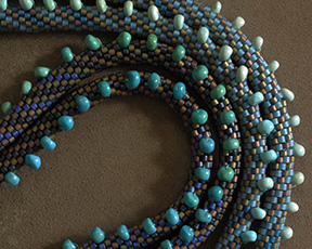 Claire Kahn Turquoise and Blue Necklace