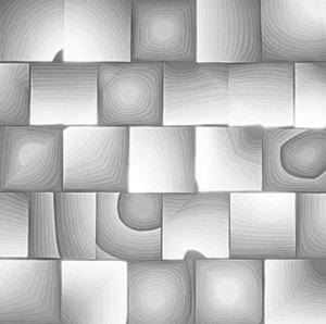 Wood Grain Paper Cut by Claire Kahn
