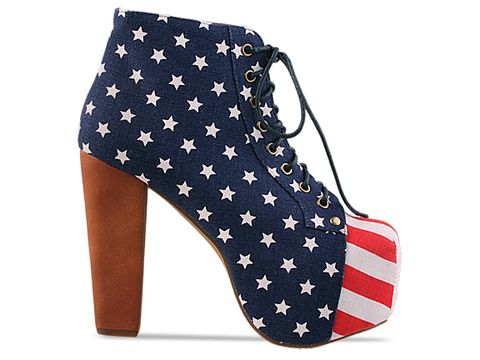 Jeffrey Campbell's Lita Stars and Stripes Shoe