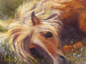 "Kim Novak painting--""Horse Heaven""--from San Fran exhibit"