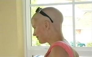 Lauren Miller, 2006, during cancer bout