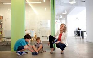 Nurturing Baby and Start-Up Biz--Photo: Michael Falco/NYTIMES