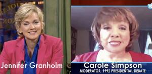 Jennifer Granholm interviews Carole Simpson via Skype on CurrentTV
