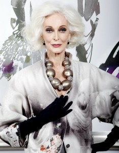 Supermodel Carmen Dell'Orefice/Photo; Elizabeth Lippman