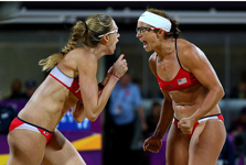 Olympic Gold medalists Kerri Walsh Jennings (l) and Misty May-Treanor for TWE Top 10