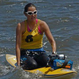Cynthia Aguilar, champion paddle boarder