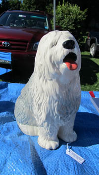 Sheepdog at Montsweag Flea Market for TWE Fun Stuff