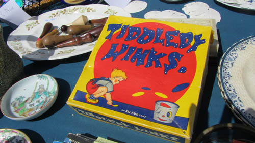 Like New Tiddly Winks game with a porcelain bowl found at the Montsweag Flea Market