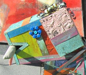 "Dog Art ""Fetch's"" Head by Sue Cretarolo   Photo: Pamela Burke"