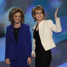 Gabby Giffords and Debbie Wasserman Schultz/2012 DNC