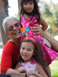 Paola Gianturco, documentary photographer, with her granddaughters