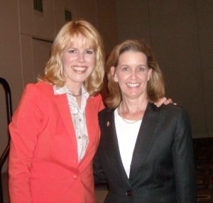 Stacey Gualandi and Gail Farber, Dir. of LA County Public Works at Women's Leadership Conference, 2012