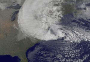 Hurrican Sandy Map from NASA GOES project
