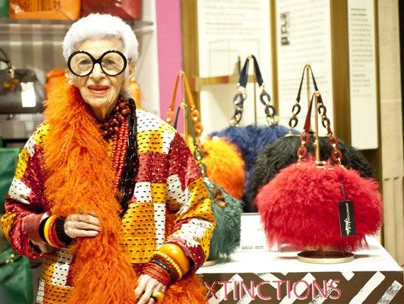 Iris Apfel Handbag Collection Extinction at Henri Bendel | Raydene Salinas/HPMG